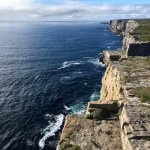 A view up the cliffs on the Aran Islands