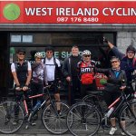 A happy gourd about to start their cycling holiday in Ireland