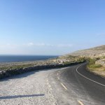 A view of a road on the Burren coast