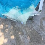 Bleach on towel