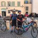 Great food, friends and riding in Italy!