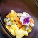 Fruit salad , Panna Cotta
