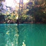 Inside the Blue Hole Mineral Spring