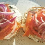 Lox and bagel.