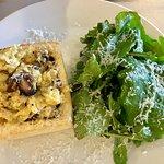 Truffled Egg Toast and Salad