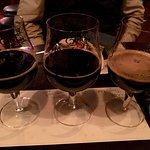 Flight of dark beer