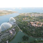 Gardens by the Bay from the Skydeck of Marina Bay Sands