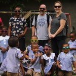 Countryside Tour with a local school with the sunglasses that we passed out to the kids