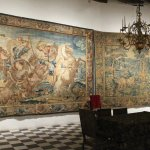 One of the many tapestries adorning the rooms