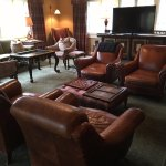 Inside the living room in the Main Lodge