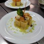 paccheri con Gallinella di mare E pomodorini giall