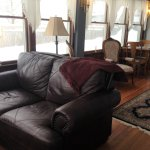 The Sunroom is an excellent spot for relaxing apres ski