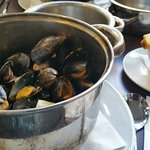 Half pot of Mussels- delicious!