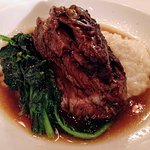 beef short ribs with polenta and broccoli rabe