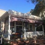 The porch at Plums Restaurant, Beaufort SC