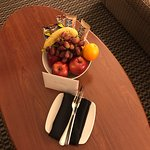 Special welcome basket of fruit and snacks from the Hotel Mgmnt.