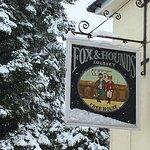 Pub Sign in the Winter