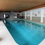 Large indoor pool in basement