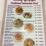 menu.Very cheap but for a reason