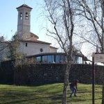 La ermita de Sant Francesc, con el bar-restaurante en primer término.