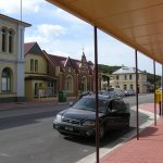 Heritage Centre (red brick) and other great old buildings in Zeehan