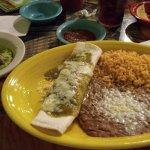 Carne Asada Burrito with Green sauce