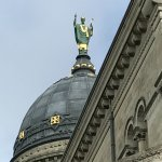 St Martin's statue on the dome