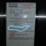 Elevator certificate expired.