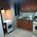 Adequate open plan kitchen (crockery/cutlery provided)