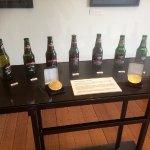 Old Beer Bottles In A Row