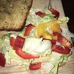 Terrible lasagne and limp salad