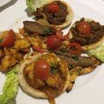 starters of puree jinga and kathe dosa