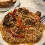 Paella de arroz