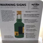 Alcohol Warning Sign