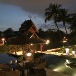 Terrace bar view (sunset)