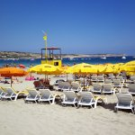 Mellieha Beach Yellow section.