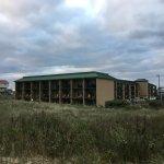 The Inn from the beach access area