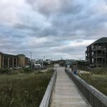 Another view from the beach access area - Inn is to the left.