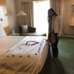 Surprise on entering our room. Guest Relations went all out for our special occasion