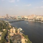 View of the Nile from our room on the 24th floor