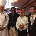 The amazing team at Casa Mia - Chef Salah, Mohamed and Manager Ahmed Younes