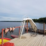 Dock with slide