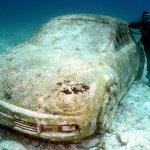 Chillin on an underwater sculpture