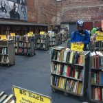 The outside used book sale