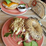 This was the food me and my friend had while our visit to Bagels and Beans.