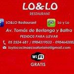 vitanos en nuestras paginas de facebook  LO&LO Restaurante /  LO&LO Restaurant.