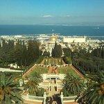 Haifa port from Bahai Gardens