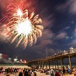 The only firework celebration on Cape Hatteras happens on the Koru Kampus