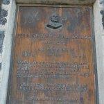 Plaque dedicating bridge to Ira Perrine