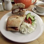 Not your run-of-the-mill Fish Finger buttie - yummy!